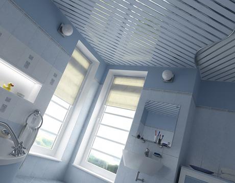 Реечный потолок в ванной комнате: разновидности и монтаж ...
